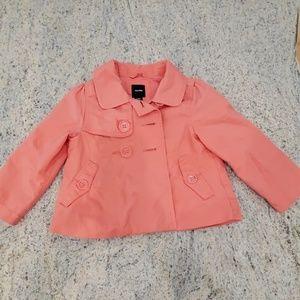 Baby Gap pink button jacket 2T